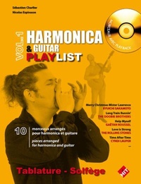 Sébastien Charlier et Nicolas Espinasse - Harmonica & guitar playlist - Volume 1. 1 CD audio