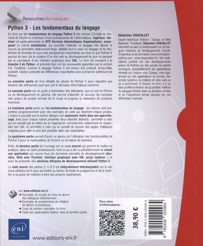 Python 3. Les fondamentaux du langage 3e édition