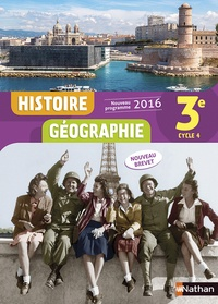 Sébastien Cote et Anne-Marie Hazard-Tourillon - Histoire Géographie 3e Cycle 4 - Livre de l'élève.