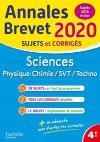 Sébastien Dessaint et Malorie Gorillot - Sciences : Physique-Chimie, SVT, Technologie - Sujets et corrigés.