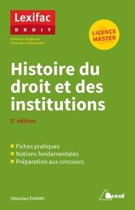 Ebooks espagnol téléchargement gratuit Histoire du droit et des institutions 9782749539478