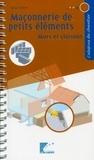 SEBTP - Maçonnerie de petits éléments : murs et cloisons.