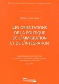Secrétariat Général du CICI - Les orientations de la politique de l'immigration et de l'intégration.