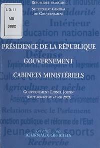 Secrétariat général du gouvern - Présidence de la République, gouvernement et cabinets ministériels : Gouvernement Édith Cresson.