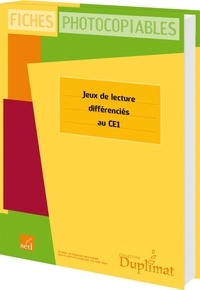 SED - Jeux de lecture différenciés CE1.