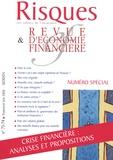 Jean-Hervé Lorenzi - Risques N° 73-74, Juin 2008 : Crise financière : analyses et propositions.