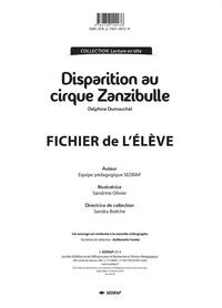 SEDRAP - Disparition au cirque Zanzibulle - Fichier de l'élève.