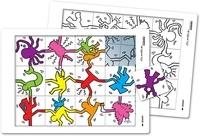 SEDRAP - Puzzle à la manière de Keith Haring.