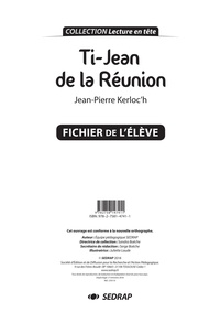 SEDRAP - Ti' Jean de la Réunion - Fichier pédagogique.