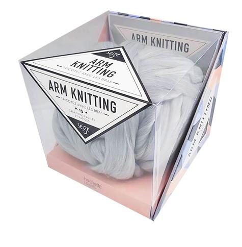 Seize Paris - Arm Knitting, tricotez avec les bras - 15 créations faciles et rapides. Avec un livret et une pelote.