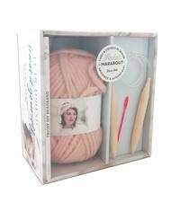 Seize Paris - Le headband Tricot it yourself - Coffret avec 1 pelote de fil à tricoter, 1 paire d'aiguilles circulaires et 1 aiguille à laine.