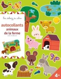 Sejung Kim et Mélusine Allirol - Autocollants animaux de la ferme avec 6 décors.