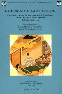 Sekiko Matsuzaki-Petitmengin et Cécile Sakai - Etudes japonaises, textes et contextes - Commémoration du 50e anniversaire de la fondation de l'Institut des hautes études japonaises du Collège de France.