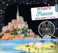 SeL - Découverte France - Avec 5 cartes à gratter scintillantes, 5 cartes à colorier, 1 pique en bois.