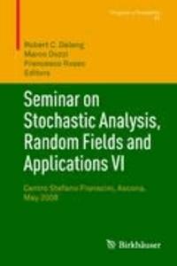 Seminar on Stochastic Analysis, Random Fields and Applications VI - Centro Stefano Franscini, Ascona, May 2008.