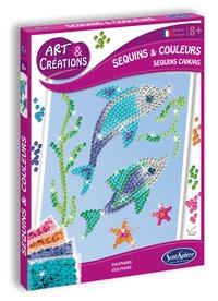 SENTOSPHERE - Kit art & créations - Sequins et couleurs Dauphins
