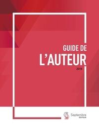 Septembre éditeur - Guide de l'auteur.