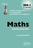 Serge Berthommé - Maths ECS-I - 1er semestre.