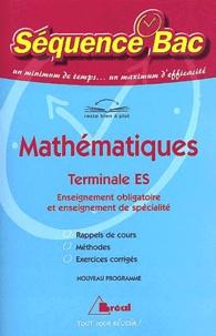 Serge Bertrand et Nadine Jacob - Mathématiques Terminale ES.