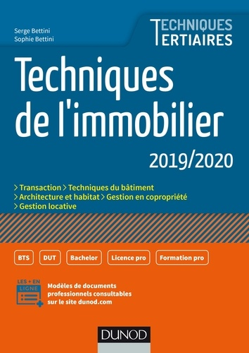 Techniques de l'immobilier 2019/2020 - Serge BettiniSophie Bettini - Format PDF - 9782100795208 - 13,99 €