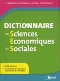 Serge d' Agostino et Philippe Deubel - Dictionnaire de sciences économiques et sociales.
