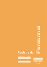 Serge Guillard - Registre du personnel.