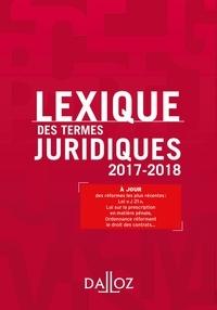 Lexique des termes juridiques 2017-2018 - Serge Guinchard, Thierry Debard - Format ePub - 9782247173433 - 13,99 €