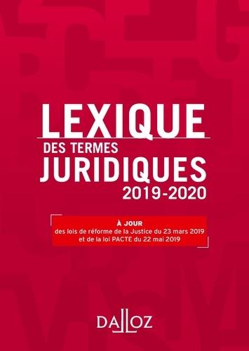 Lexique des termes juridiques 2019-2020 - Format ePub - 9782247194131 - 13,99 €