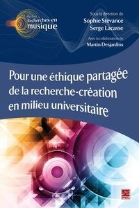 Serge Lacasse - Pour une éthique partagée de la recherche-création en milieu universitaire.