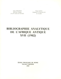 Serge Lancel - Bibliographie analytique de l'Afrique antique XVII (1982).