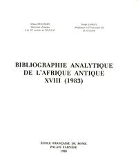 Serge Lancel - Bibliographie analytique de l'Afrique antique XVIII (1983).