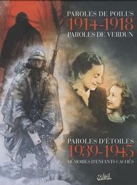 Serge Le Tendre - Coffret en 3 volumes : Paroles de poilus ; Paroles d'étoile ; Paroles de Verdun.