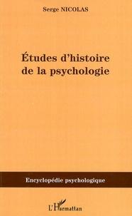 Corridashivernales.be Etudes d'histoire de la psychologie Image