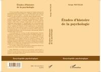 Serge Nicolas - Etudes d'histoire de la psychologie.