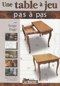 Serge Page - Une table à jeu.