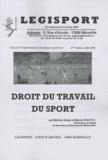 Serge Pautot et Michel Pautot - Droit du travail du sport.