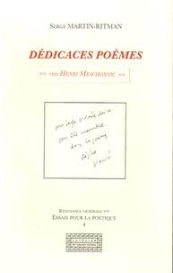 Serge Ritman - Dédicaces poèmes - Vers Henri Meschonnic.