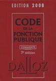 Serge Salon et Jean-Charles Savignac - Code de la fonction publique commenté.