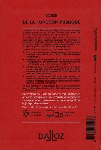Code de la fonction publique. Annoté & commenté  Edition 2020