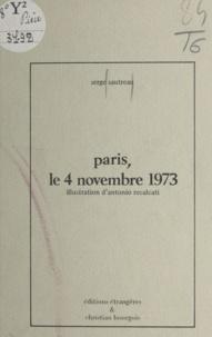 Serge Sautreau et Antonio Recalcati - Paris, le 4 novembre 1973.