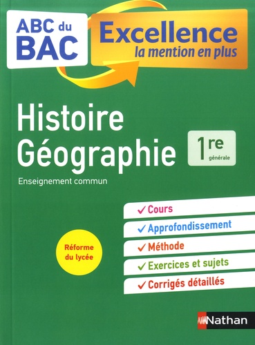 Histoire-geographie 1re  Edition 2019