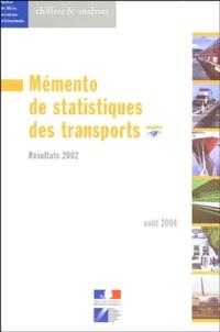 Service economique statistique - Mémento de statistiques des transports - Résultats 2002.