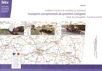 SETRA - Transports exceptionnels de première catégorie - 2 volumes + carte nationale des itinéraires.