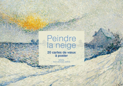 Seuil - Peindre la neige - 20 cartes de voeux à poster.