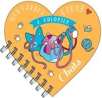Séverine Aubry - Mon carnet coeur à colorier chats.