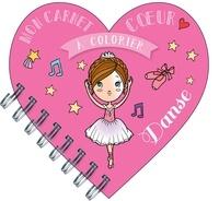 Séverine Aubry - Mon carnet coeur à colorier danse.