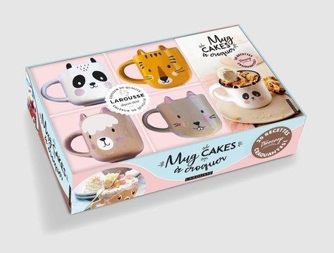 Coffret Mug cakes à croquer. Avec 4 mini mugs