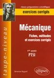 Séverine Bagard - Mécanique 1re année PTSI - Fiches, méthodes et exercices corrigés.