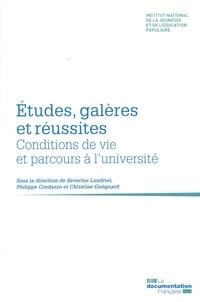 Séverine Landrier et Philippe Cordazzo - Etudes, galères et réussites - Conditions de vie et parcours à l'université.