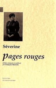 Séverine - Pages rouges.